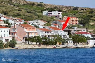 Metajna, Pag, Objekt 6289 - Ubytování v blízkosti moře s oblázkovou pláží.