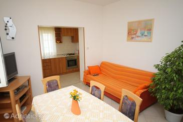 Pag, Obývací pokoj v ubytování typu apartment, WiFi.