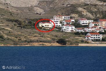 Pag, Pag, Objekt 6291 - Ubytování s oblázkovou pláží.