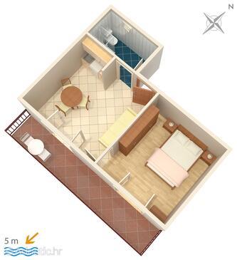 Podobuče, Plan in the apartment, dopusteni kucni ljubimci.