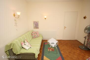 Novalja, Living room in the apartment.