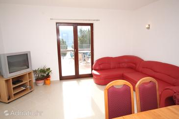 Pridraga - Cuskijaš, Living room in the apartment, air condition available, (pet friendly) and WiFi.