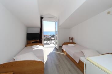 Mandre, Spavaća soba u smještaju tipa room, dostupna klima, kućni ljubimci dozvoljeni i WiFi.
