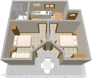 Podobu e dvoupokojov apartm n na pl i a 631 b for Apartment wifi plans
