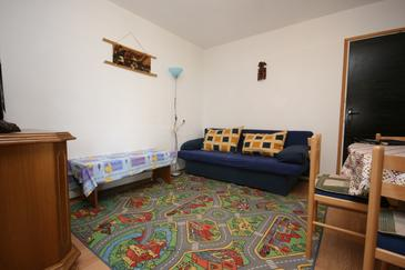 Smokvica, Woonkamer in the apartment, (pet friendly) en WiFi.