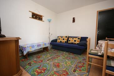 Smokvica, Obývací pokoj v ubytování typu apartment, domácí mazlíčci povoleni a WiFi.