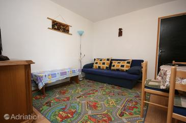 Smokvica, Living room in the apartment, (pet friendly) and WiFi.