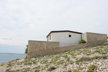 Smokvica, Pag, Objekt 6314 - Ubytování s oblázkovou pláží.