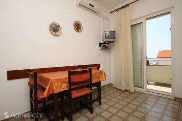 Novalja, Столовая в размещении типа apartment, доступный кондиционер и WiFi.