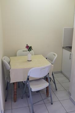 Stara Novalja, Dining room in the apartment, dopusteni kucni ljubimci i WIFI.