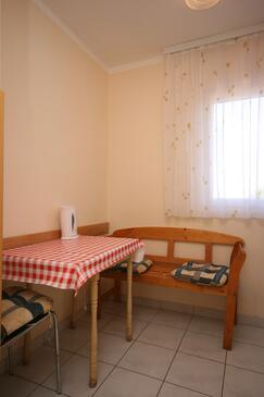 Stara Novalja, Esszimmer in folgender Unterkunftsart apartment, WiFi.
