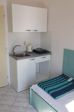 Stara Novalja, Кухня в размещении типа studio-apartment, WiFi.