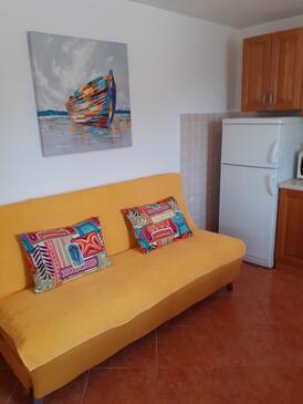Kustići, Obývací pokoj v ubytování typu apartment, s klimatizací a WiFi.