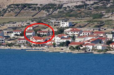 Kustići, Pag, Property 6320 - Apartments near sea with pebble beach.