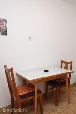 Kustići, Jídelna v ubytování typu apartment, domácí mazlíčci povoleni a WiFi.
