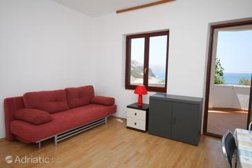 Metajna, Wohnzimmer in folgender Unterkunftsart apartment, Haustiere erlaubt und WiFi.
