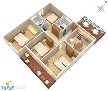 Viganj, План в размещении типа apartment, WiFi.