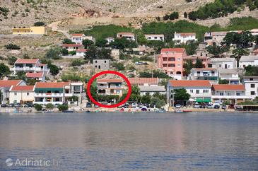 Metajna, Pag, Property 6352 - Apartments near sea with pebble beach.