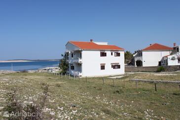 Kustići, Pag, Property 6353 - Apartments near sea with pebble beach.