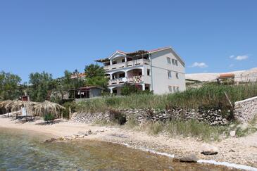Vidalići, Pag, Objekt 6359 - Apartmaji v bližini morja s prodnato plažo.