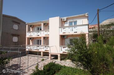 Metajna, Pag, Property 6378 - Rooms near sea with pebble beach.