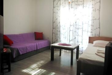 Pag, Obývací pokoj v ubytování typu apartment, domácí mazlíčci povoleni a WiFi.