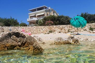 Mandre, Pag, Objekt 6386 - Ubytování v blízkosti moře s oblázkovou pláží.