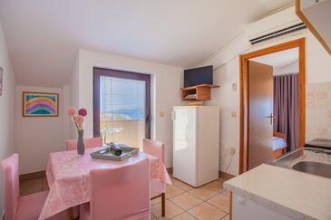 Zubovići, Dining room in the apartment, dostupna klima, dopusteni kucni ljubimci i WIFI.