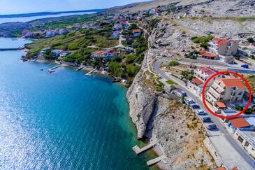 Zubovići, Pag, Hébergement 6387 - Appartement à proximité de la mer.