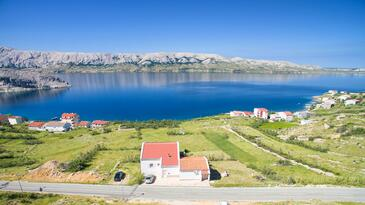 Metajna, Pag, Property 6389 - Apartments with pebble beach.
