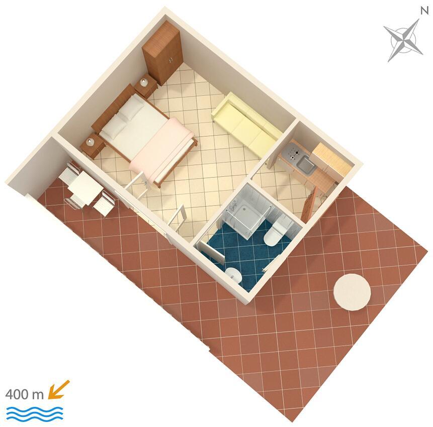 Ferienwohnung Studio Appartment im Ort Mokalo (Peljeaac), Kapazität 2+1 (1012792), Orebić, Insel Peljesac, Dalmatien, Kroatien, Bild 10