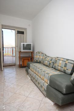 Zubovići, Living room in the studio-apartment, (pet friendly) and WiFi.