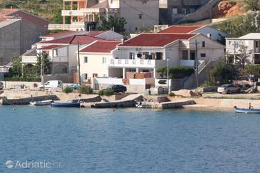 Metajna, Pag, Property 6395 - Apartments near sea with pebble beach.