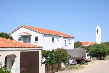 Mandre, Pag, Objekt 6405 - Ubytování s oblázkovou pláží.