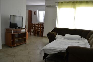 Kustići, Obývací pokoj v ubytování typu apartment, s klimatizací a domácí mazlíčci povoleni.