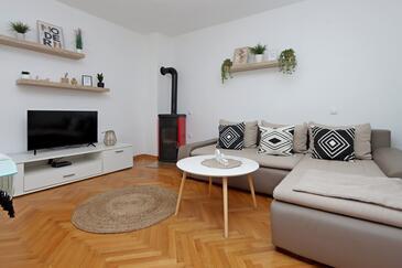 Pag, Obývacia izba v ubytovacej jednotke apartment, WIFI.
