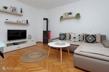 Pag, Dnevna soba v nastanitvi vrste apartment, dostopna klima in WiFi.