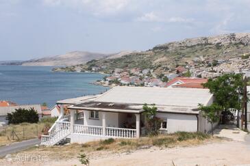 Metajna, Pag, Objekt 6426 - Ubytování s písčitou pláží.