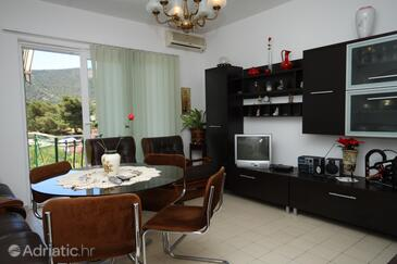 Grebaštica, Living room in the apartment, air condition available and WiFi.