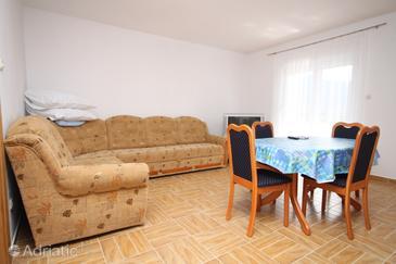 Seline, Living room in the apartment, dostupna klima i WIFI.