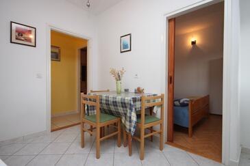 Grebaštica, Jedáleň v ubytovacej jednotke apartment, WIFI.