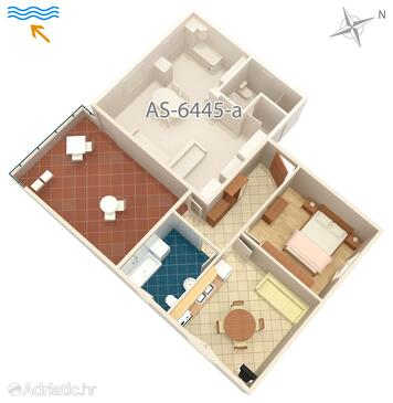 Turanj, Plan in the apartment, WiFi.