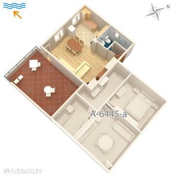 Turanj, Plan in the studio-apartment, WIFI.
