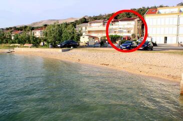 Pag, Pag, Objekt 6448 - Ubytování v blízkosti moře s písčitou pláží.
