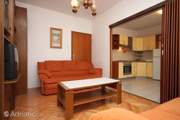 Vodice, Living room in the apartment, WIFI.