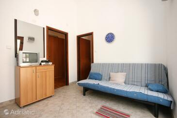 Stara Novalja, Living room in the apartment.