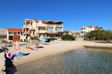 Kustići, Pag, Objekt 6472 - Apartmaji v bližini morja s prodnato plažo.