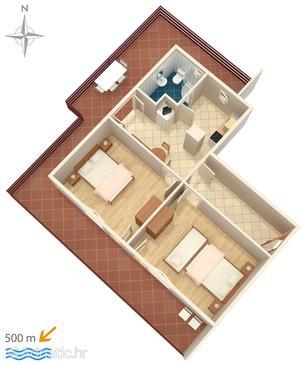 Bilo, Plan in the apartment, WIFI.