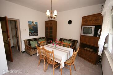 Novalja, Jedilnica v nastanitvi vrste apartment, dostopna klima, Hišni ljubljenčki dovoljeni in WiFi.
