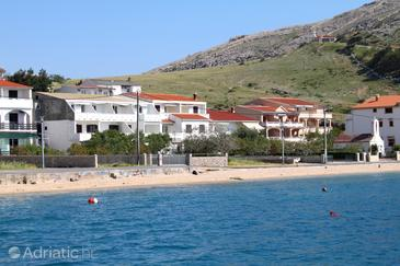 Metajna, Pag, Object 6486 - Appartementen near sea with sandy beach.